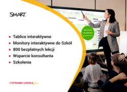 tablice interaktywne monitory interaktywne Smart do szkół